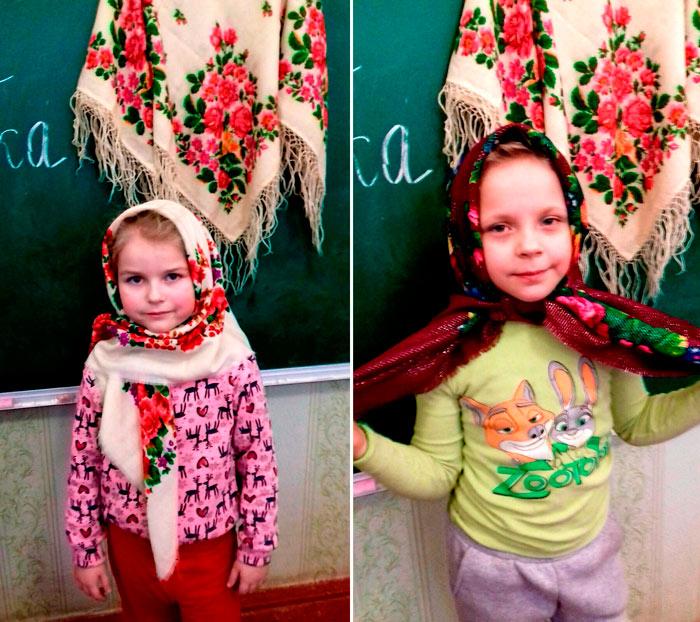 Українська хустка в нас завжди була з жінками. У літню спеку, у люті холоди...